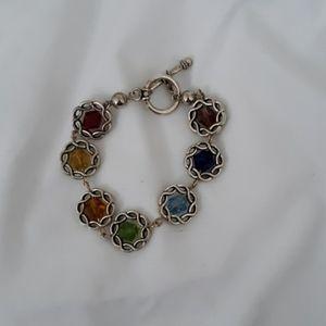 Swarovski colored crystal bracelet